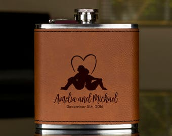 Personalized Flask, Groomsmen Gift, Wedding Flask,Gift for wedding, Gifts for him, birthday gift, best man gift, Hip Flask