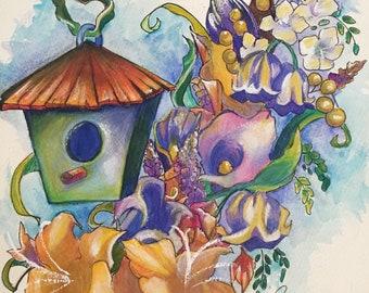 Lilies Original Watercolor Painting