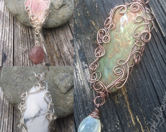 Pick a pendant, Copper, Silver, and Stones, ThePurpleLilyDesigns