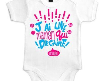 Funny organic Bodysuit. Organic baby Bodysuit. body I'm a MOM who rocks. original Bodysuit. funny baby Bodysuit. baby gift