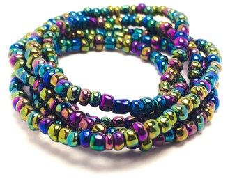 Iridesent African Waist Beads