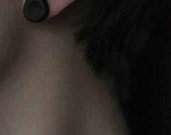 Coal black matryoshkas ear studs