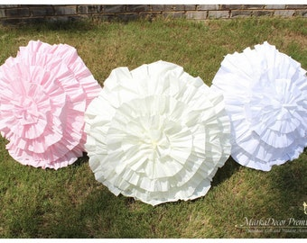 Wedding Parasol Bridal Umbrella for Kids Flower Girl Parasol with Multi Layers of Gorgeous Fabric 1 pc