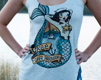 Ukee Mermaid Ladies Tank Top