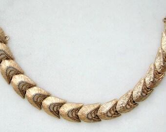 Monet Gold Tone Link Bracelet