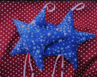 Patriotic Star Ornaments Red White & Blue