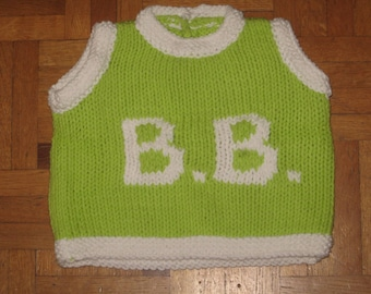BB-3 month sleeveless sweater