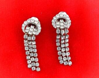 Vintage 50s - 60s rhinestone earrings