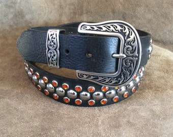 Leather Studded Belt MARKED DOWN