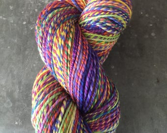 "DK Weight Handspun Yarn ""Rainbow Palace"""