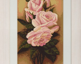 Ikebana from Roses SB455 - Cross Stitch Kit by Luca-s