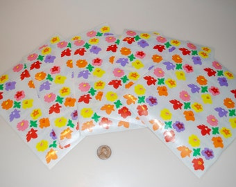 Mrs. Grossman's Vintage Flower Floral Sticker Stickers Lot of 5 sheets of 12 = 60 from 1986