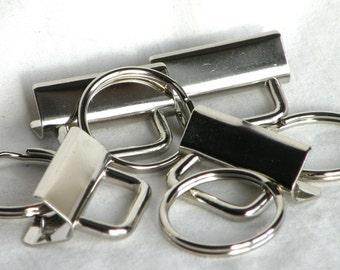 Key Fob Hardware 1.25 inch 600 sets Nickel Plated Bulk Wholesale
