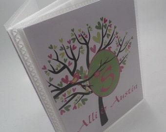 Personalized Photo Album Girl Photo Album Baby Shower Gift Bridal gift wedding Photo Album Green Hot Pink Chevron 4x6 or 5x7 picture 028