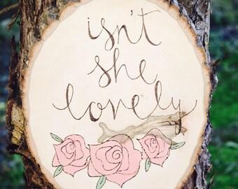 Rustic Decor   Isn't She Lovely   Woodland Nursery Decor   Baby Girl Wood Sign