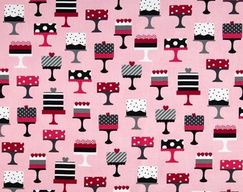 Cupcake pink background Miller patchwork fabric