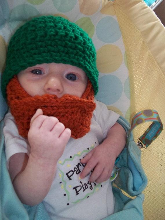 St. Patrick's Day Baby Outfit, St. Patrick's Day Baby Shower, Baby Leprechaun Costume, Irish Baby Beard, Irish Baby Gift, First Birthday