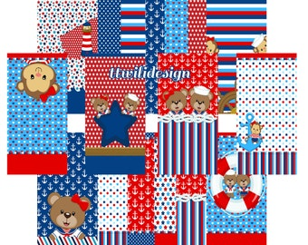 50% Off Ships Ahoy Wall Pack for Mobile Devices, Instant Download, Iphone, Android,