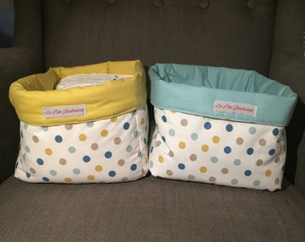 Baskets in fabric large format. Set of 2.