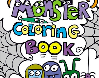 PDF Druckversion Digital Pop Art Monster Malbuch