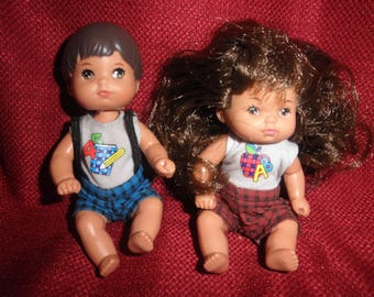 Mattel Boy and Girl Small made in 1976