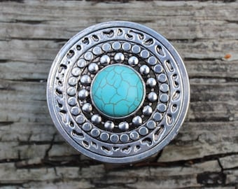 Turquoise Stone Drawer Knobs - Furniture Knobs - Cabinet Knobs Large (MK101S-01)