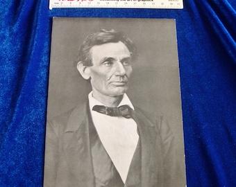 1960's Jumbo Abraham Lincoln Postcard Vintage