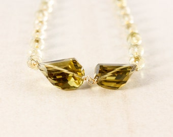 Lemon Quartz Beaded Necklace – Champagne Citrine Tumbled Stones