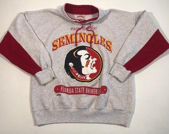 Vintage 90s nutmeg florida seminoles football sweatshirt medium