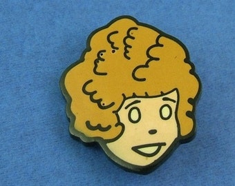 Vintage Little Orphan Annie Pin - Presumably Bakelite or Celluloid