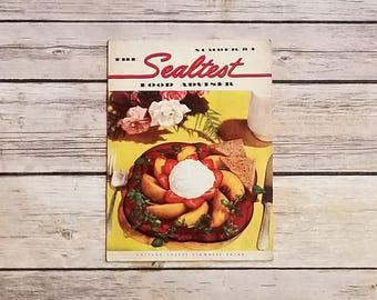 The Sealtest Food Advisor Number 84 Cottage Cheese Recipe Strange Food Cookbook 1950s Sealtest Brand Cheesecake Recipes Vintage Cookbook Art