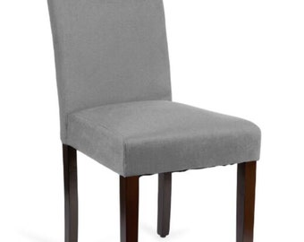 Dining Chair with Wood Legs  Available for Custom Upholstery or Slipcover