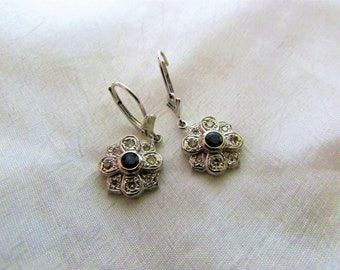 14k sapphire earrings