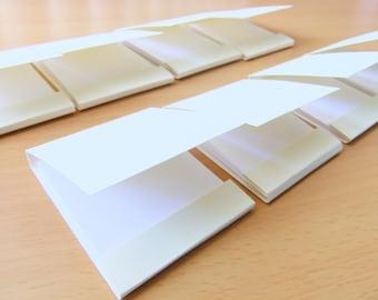 Mini matchbook notepad -Custom matchbook- Personalized matchbook- Wedding matchbook- Baby shower favor- Party favor- 10 Ivory Mini notepad