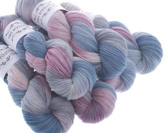 Hand Dyed Yarn SUNSET BOULEVARD -  100% Merino DK and Sock