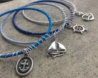 Stacking Bracelet Set: Blue Ombré Seaside