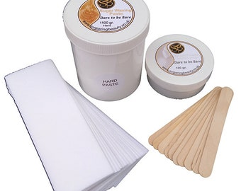 1100gr Sugaring hair removal paste PLUS Talc, Strips and Spatulas. Gentle on the skin - 100% Natural