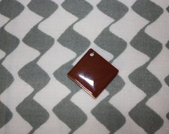 1 Pearl sequin chocolate charm
