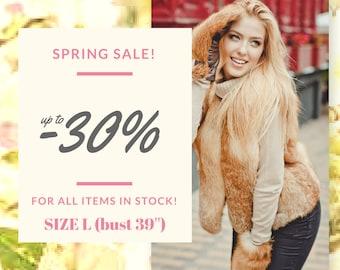 Real red fox fur vest for women Fur coats Short fur vest women Luxury gifts for wife