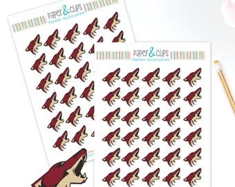 30 Arizona Coyotes Hockey Reminder or Planner Stickers