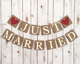JUST MARRIED BANNER, just married sign, just married car sign, just married sign for car,just married car,wedding decoration, wedding banner