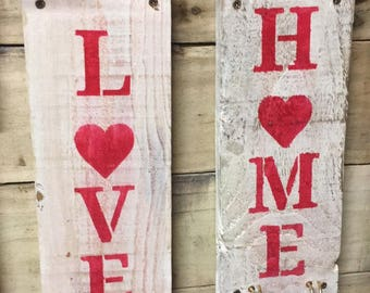 Love & Home Wall Hangers Shabby Chic
