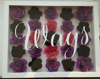 Hand rolled flower wall sign!