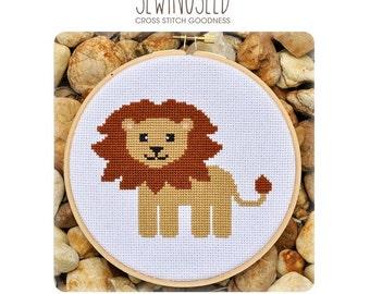 Lion Cross Stitch Pattern Instant Download
