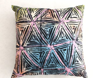 Colourful Cushions, African cushions, Multicoloured throw pillows, batik cushion, African home decor, Handmade cushions, African cushions