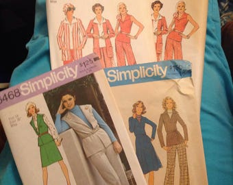 4 Vintage 970s Simplicity patterns. NEW. Never used.  Your Choice. 6459 in size 12 and 14