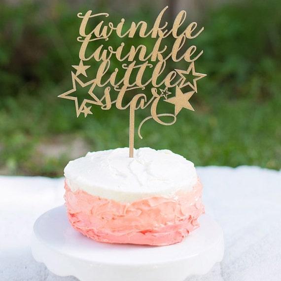 Twinkle Twinkle Little Star Cake Topper, Baby Shower Cake Topper, Baby Cake Topper, Gender Reveal Cake Topper, Little Star Cake Topper
