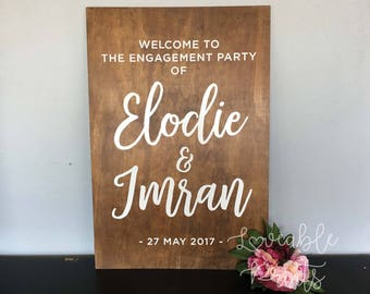 Wedding Welcome Sign | Wedding Ceremony Sign | Wooden Wedding Sign | Signage | Custom Timber Sign | Engagement Sign |