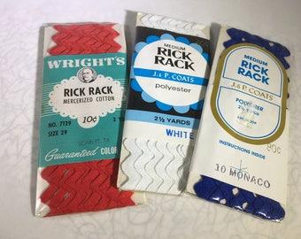 Rick Rack, Rick Rack Trim, Rick Rack Packages, Red Rick Rack, Blue Rick Rack, Red white and Blue, Sewing Trims,