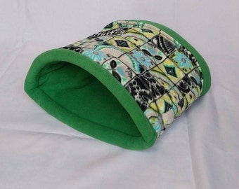 Snooze Sack in Flowers and Squares/Green